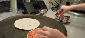 Tortilla Pizza Recipes: Pepperoni Pizza, Crab Cake Pizza