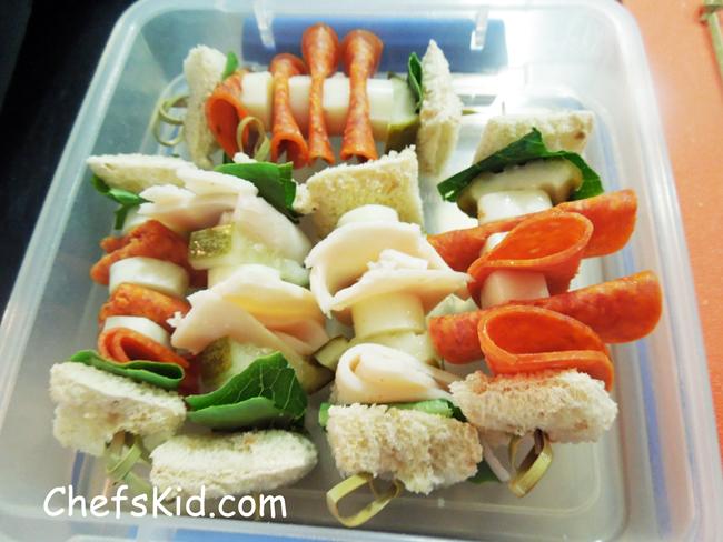 Sandwich Kabobs from ChefsKid.com