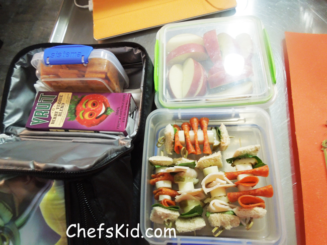 School Lunch Ideas: Sandwich Kabob from ChefsKid.com