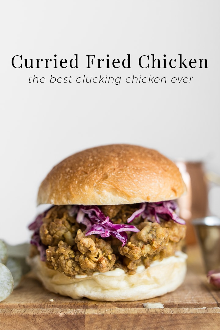 Inspired by Donna Hay's Katsu Curry Fried Chicken Burger, we put an Island twist on her version by marinating the chicken in West Indian curry, scotch bonnets, and sweet mango. This paste collects all the flour and makes for the crispiest, most flavourful chicken sandwich you'll ever have. #BeautifulFood #Comfort #FriedChicken #Sandwich #Chicken