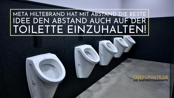 Meta Hiltebrand hat mit ABSTAND die beste Idee den Abstand auch auf der Toilette einzuhalten!