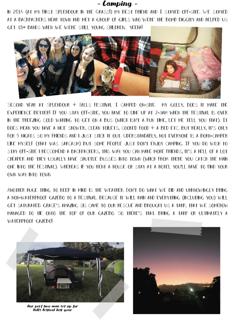 FESTIVAL SURVIVAL GUIDE page 2