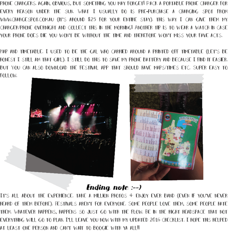 FESTIVAL SURVIVAL GUIDE page 4