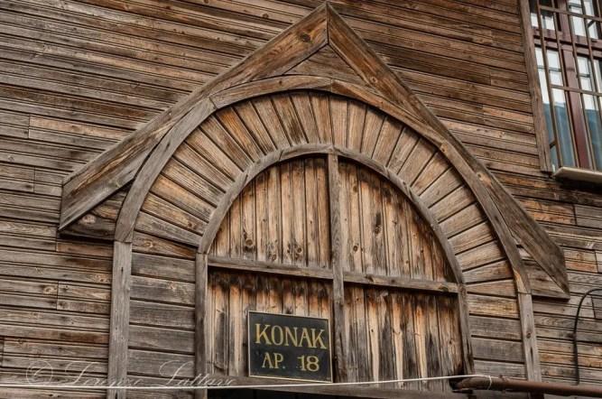 porta di case ottomane in legno a istanbul