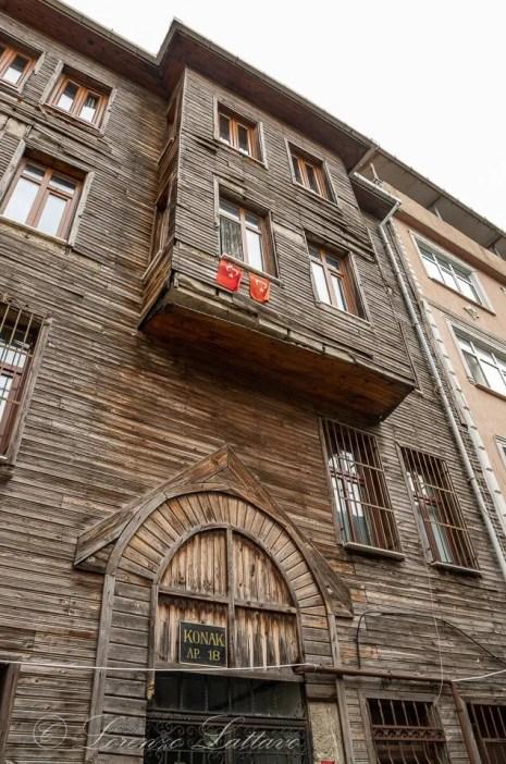 Affaccio di case ottomane a Istanbul