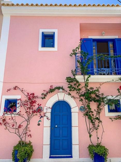 casa rosa ad assos di cefalonia