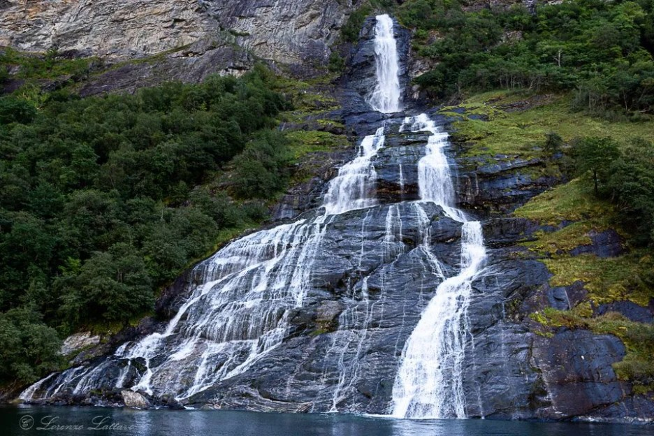 Cascata del pretendente a Geirangerfjord