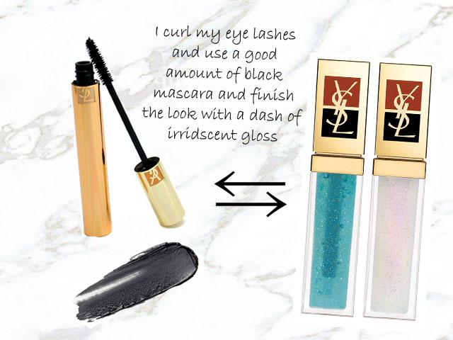 ysl mascara golden gloss irridescent lip gloss