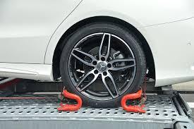 Car wheel towed