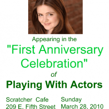 Promo Postcards - Chelsea Clark in Playing with Actors