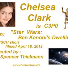 Promo Postcards - Chelsea Clark as C3PO