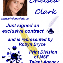 Postcards - Chelsea Clark with MSF Talent Agency