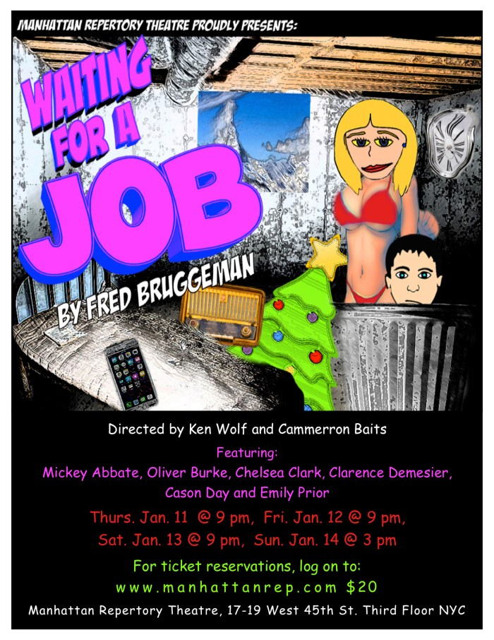 Chelsea Clark in WAITING FOR A JOB at Manhattan Repertory Theatre
