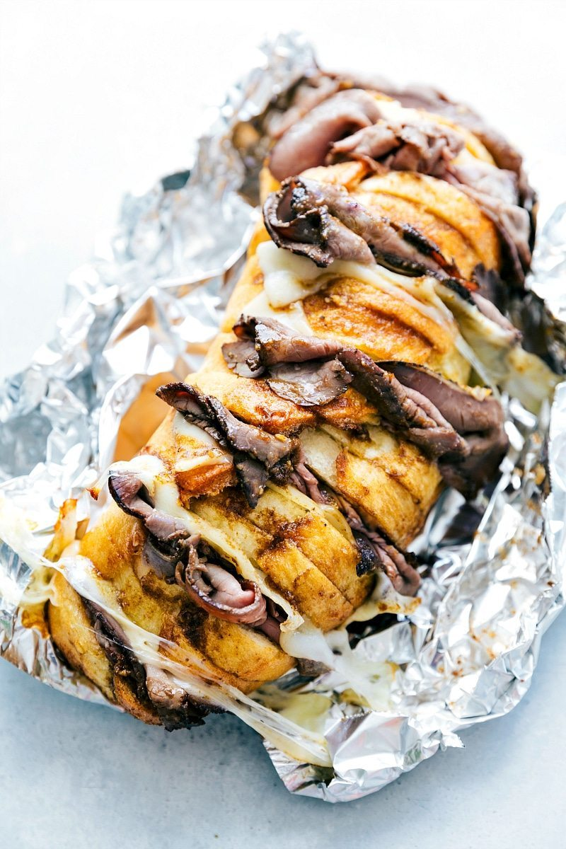 9. Foil Pack French Dip Sandwiches