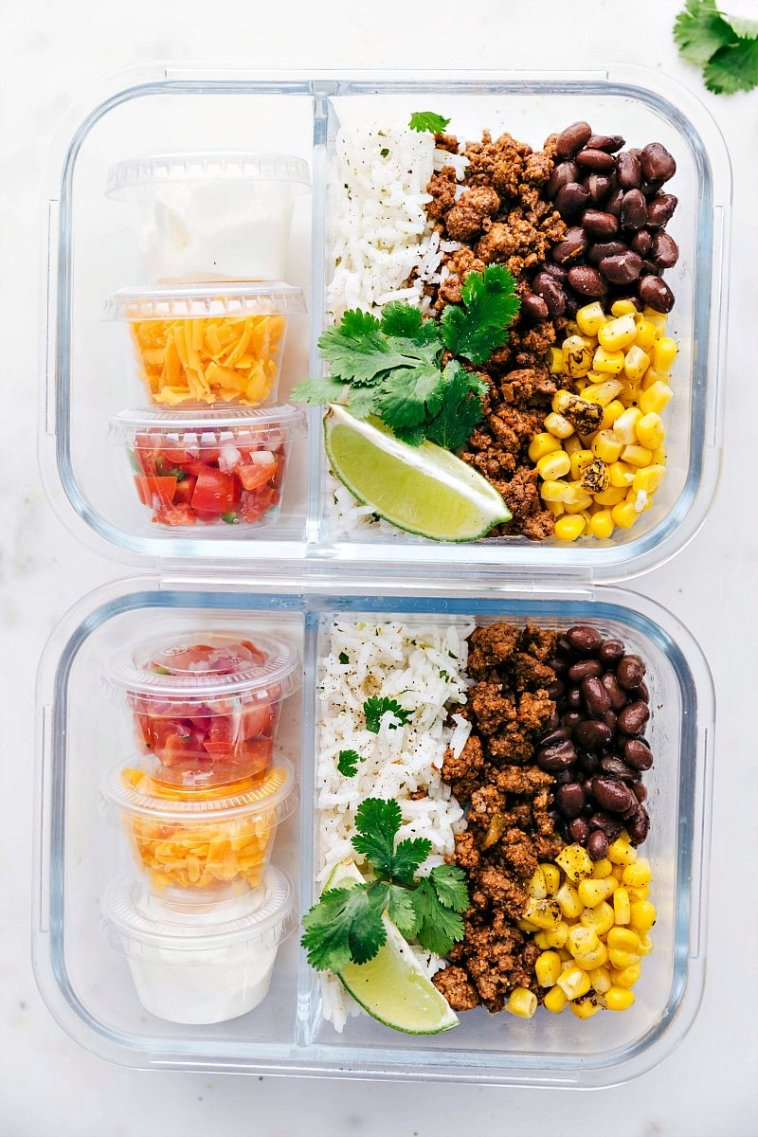 taco bowl meal prep easy and healthy meal prep ideas
