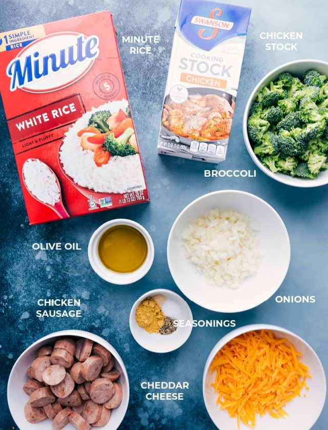 Ingredients required for Cheesy Broccoli & Chicken foil pack meals