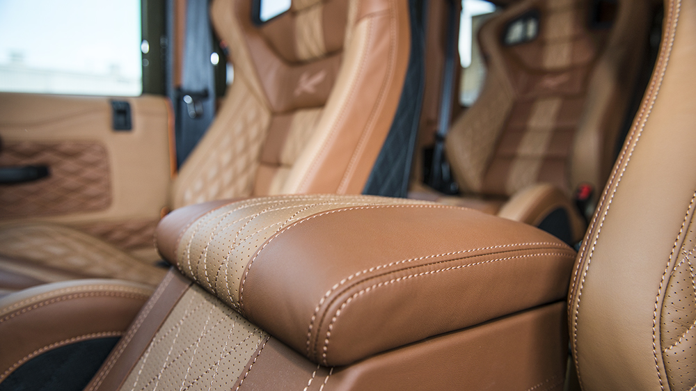 Centre Glove Box in Quilted & Perforated Leather (Choice of Colour Stitching)