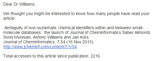Journal of Cheminformatics email