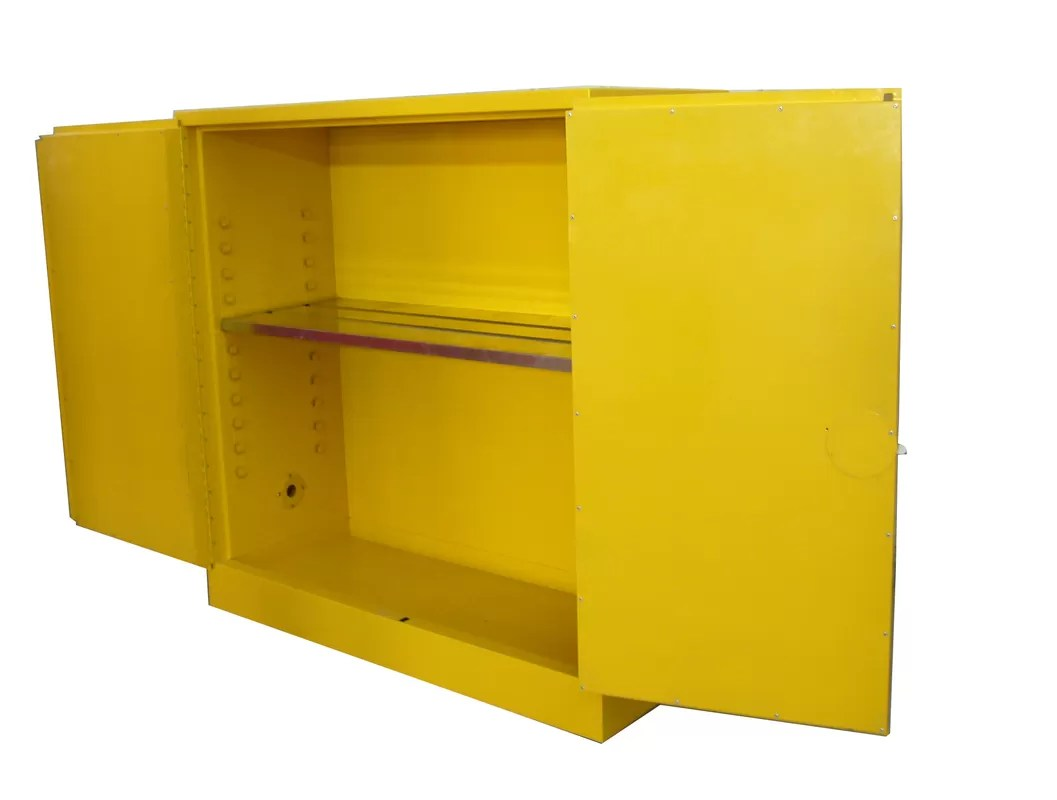 Liquid Safety Flammable Storage Cabinet Yellow Powder