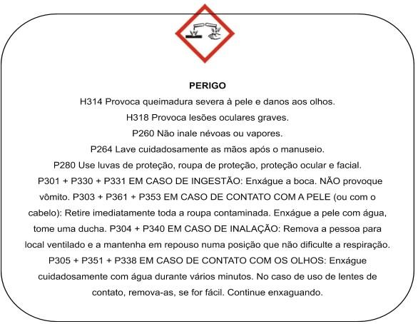 exemplo de comunicação de perigo de produto químico