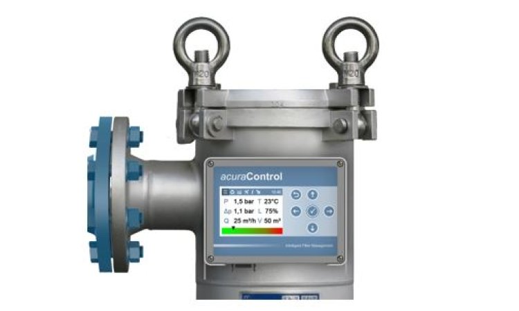 Remote monitoring of filter performance with our acuraControl unit