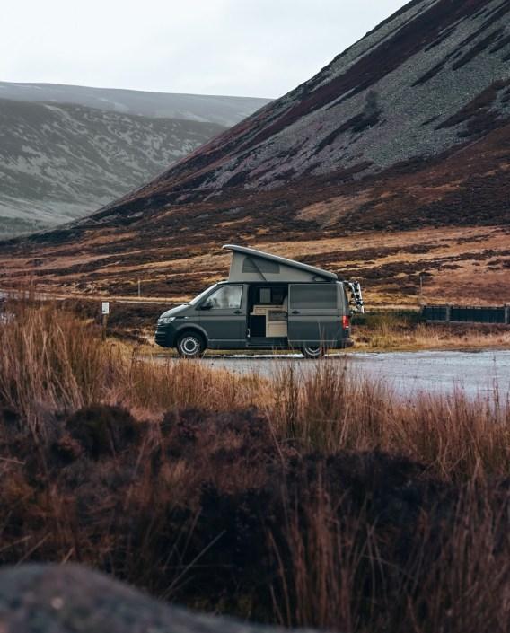 Petit arrêt dans les Caingorms avec son campervan