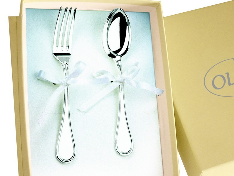 cuillere et fourchette en metal argente olri