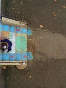Street Art dans la cour par Agatha, Nils, Sofiane et Amel