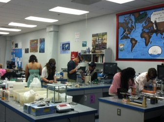 Students Working with Sludge