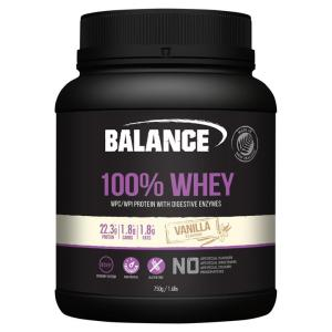 Balance 100% Whey Natural Vanilla 750gm