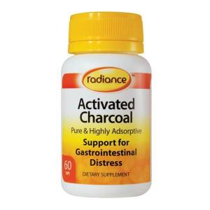 Radiance Activated Charcoal 260mg 60 capsules