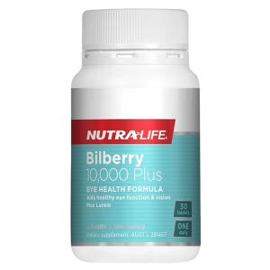 NutraLife Bilberry 10,000 + Lutein Complex 30 Tablets