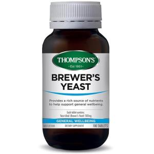 Brewers Yeast 500mg 100 Tablets – Thompsons