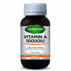 Vitamin A 10000iu 150 Capsules – Thompsons