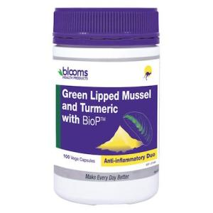 Blooms Green Lipped Mussel 500mg + Turmeric 100 Capsules
