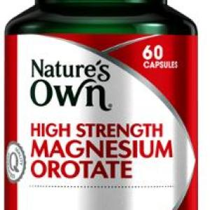 High Strength Magnesium Orotate 800mg 60 Capsules – Natures Own