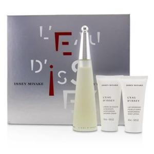 Issey Miyake L'Eau D'Issey Coffret: Eau De Toilette Spray 100ml/3.3oz + Moisturising Body Lotion 50ml/1.6oz + Moisturising Shower Cream 50ml/1.6oz 3pcs Ladies Fragrance