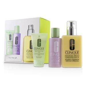 Clinique 3-Step Skin Care System (Skin Type 2): DDML+ 200ml + Clarifying Lotion 2 60ml + Liquid Facial Soap Mild 30ml 3pcs Skincare
