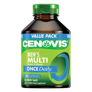 Cenovis Men's Multi Vitamins & Minerals Once Daily Cap X 125