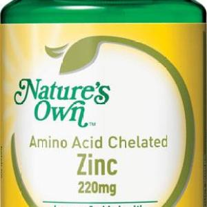 Nature's Own Amino Acid Chelated Zinc 220mg Tab X 200
