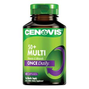 Cenovis 50 Plus Multi Vitamins & Minerals Once Daily Cap X 62