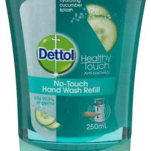 Dettol No Touch Hand Wash Refill 250ml (Hydrating Cucumber Splash)