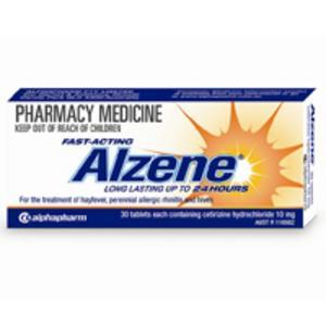 Alzene 10mg Tab X 10 (Generic for ZYRTEC)