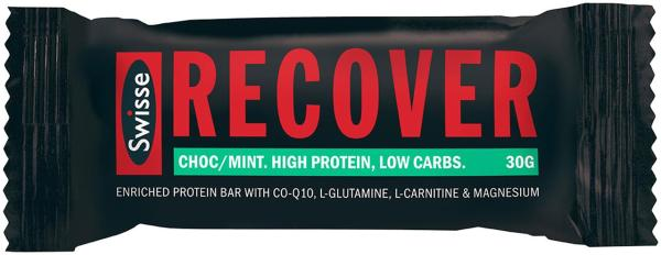 Swisse Active Recover Protein Bar Choc Mint 30g X 12