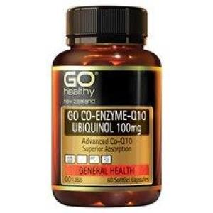 GO Healthy Go Co-Q10 Ubiquinol 100mg – Advanced Heart Support 60 softgels