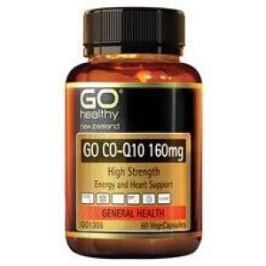 GO Healthy Go Co-Q10 160mg High Strength 60 vegecaps