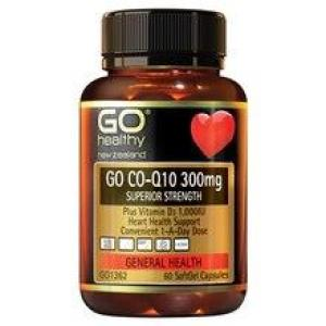 GO Healthy Go Co-Q10 300mg – Superior Strength 30 softgels