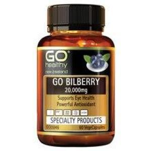 GO Healthy Go Bilberry 20,000mg 60 vegecaps