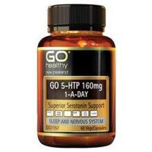 GO Healthy Go 5-HTP 160mg 1-A-Day 60 vegecaps