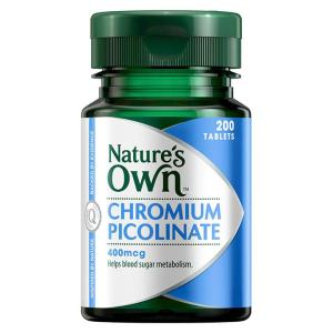 Nature's Own Chromium Picolinate 400mcg Tab X 200